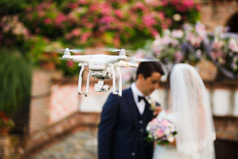 Utilisation du drone pour cérémonie de mariage